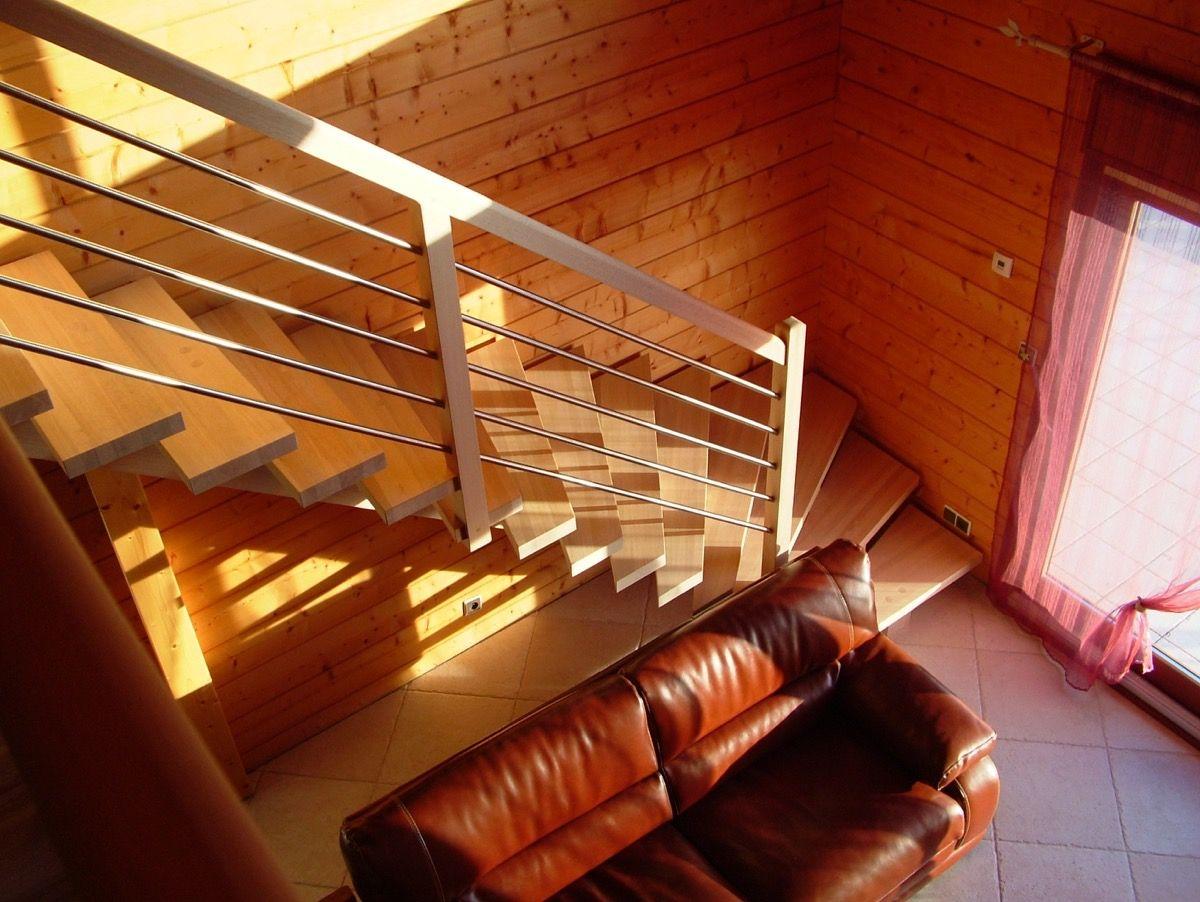 Escalier en bois d'intérieur